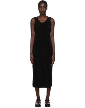 photo Black Chenille Jersey Dress by Comme des Garcons - Image 1