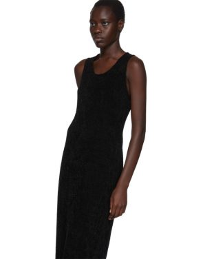 photo Black Chenille Jersey Dress by Comme des Garcons - Image 4