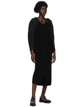 photo Black Chenille Jersey Dress by Comme des Garcons - Image 5