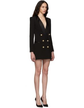 photo Black Crepe Jacket Dress by Balmain - Image 2