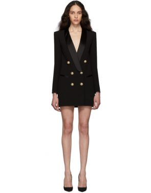 photo Black Crepe Jacket Dress by Balmain - Image 1