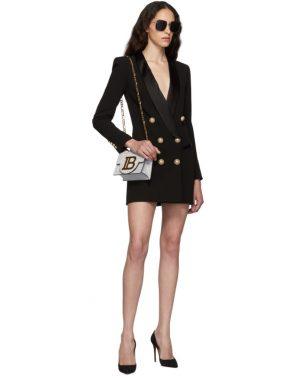 photo Black Crepe Jacket Dress by Balmain - Image 5