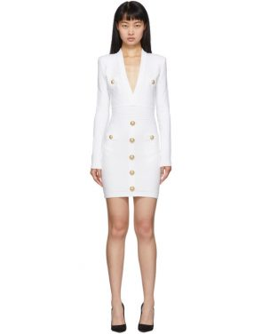 photo White Knit Short Dress by Balmain - Image 1