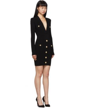 photo Black Knit Short Dress by Balmain - Image 2