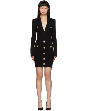 photo Black Knit Short Dress by Balmain - Image 1