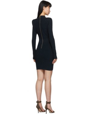 photo Navy Knit Short Dress by Balmain - Image 3