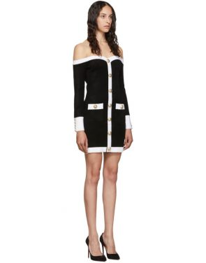 photo Black Velvet Contrast Dress by Balmain - Image 2