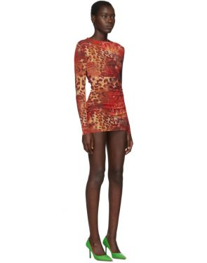 photo Orange Skin Mesh Dress by Mowalola - Image 2