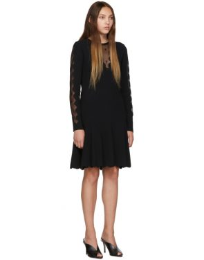 photo Black Knit Ottoman Mini Dress by Alexander McQueen - Image 2