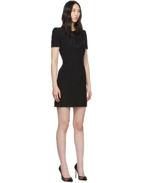 photo Black Leaf Crepe Midi Pencil Dress by Alexander McQueen - Image 2