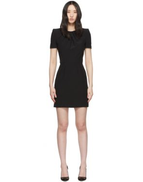 photo Black Leaf Crepe Midi Pencil Dress by Alexander McQueen - Image 1
