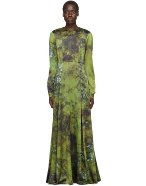 photo Green SOTO Silk Long Prairie Dress by S.R. STUDIO. LA. CA. - Image 1