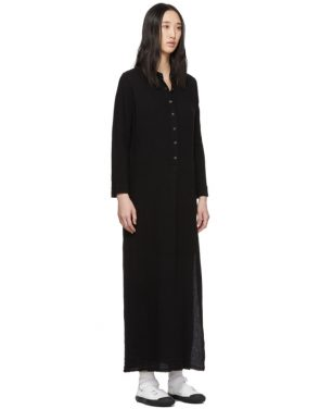 photo Black Maxi Henley Dress by Raquel Allegra - Image 2