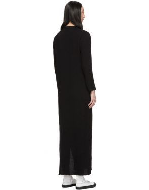 photo Black Maxi Henley Dress by Raquel Allegra - Image 3