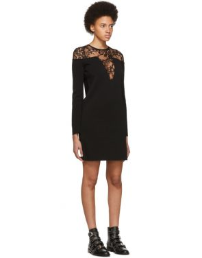 photo Black Lace-Trimmed Dress by Givenchy - Image 2