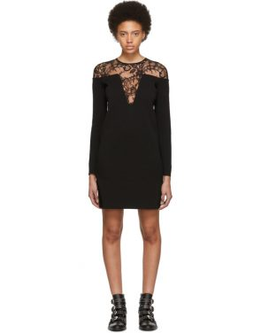 photo Black Lace-Trimmed Dress by Givenchy - Image 1