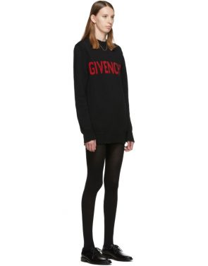 photo Black and Red Logo Crewneck Dress by Givenchy - Image 2