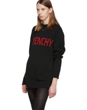 photo Black and Red Logo Crewneck Dress by Givenchy - Image 4
