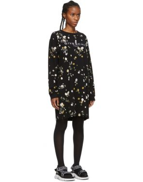 photo Black Floral T-Shirt Dress by Givenchy - Image 2