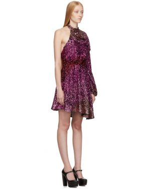 photo Pink Degrade Sequin Single-Shoulder Dress by Halpern - Image 2