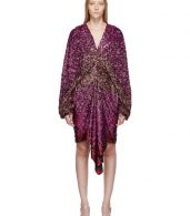 photo Pink Degrade Sequin Voluminous Sleeve Dress by Halpern - Image 1