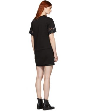 photo Black Lace Insert T-Shirt Dress by 3.1 Phillip Lim - Image 3