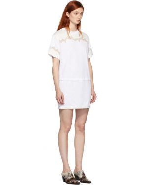 photo White Lace Insert T-Shirt Dress by 3.1 Phillip Lim - Image 2