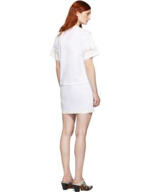 photo White Lace Insert T-Shirt Dress by 3.1 Phillip Lim - Image 3
