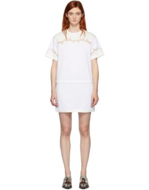 photo White Lace Insert T-Shirt Dress by 3.1 Phillip Lim - Image 1