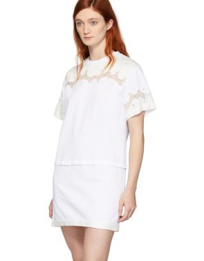 photo White Lace Insert T-Shirt Dress by 3.1 Phillip Lim - Image 4