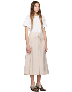 photo White and Beige T-Shirt Corset Dress by 3.1 Phillip Lim - Image 2