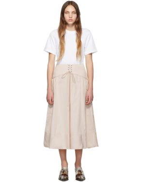 photo White and Beige T-Shirt Corset Dress by 3.1 Phillip Lim - Image 1