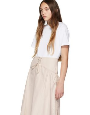 photo White and Beige T-Shirt Corset Dress by 3.1 Phillip Lim - Image 4