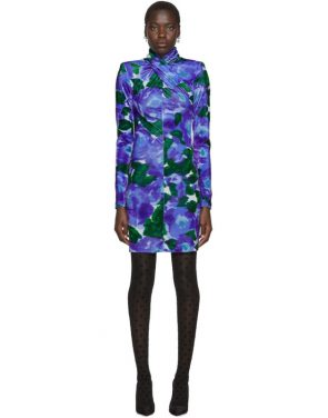 photo Blue Floral Dress by Richard Quinn - Image 1