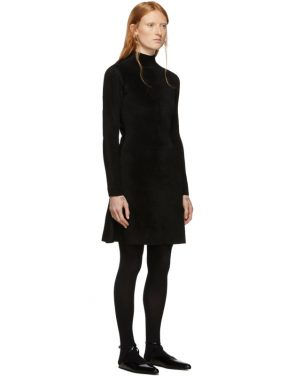 photo Black Knit A-Line Dress by Balenciaga - Image 2