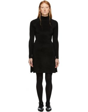 photo Black Knit A-Line Dress by Balenciaga - Image 1