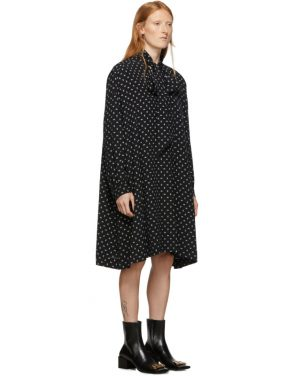 photo Black BB Vareuse Dress by Balenciaga - Image 2
