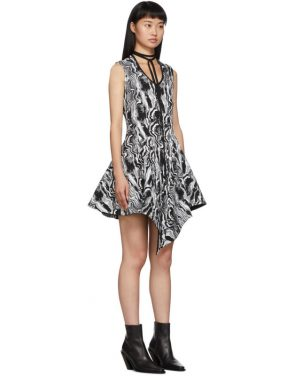 photo Black and White Tapestry A-Line Dress by Mugler - Image 2