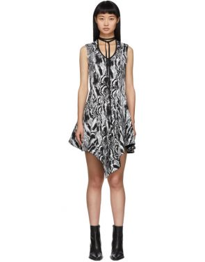 photo Black and White Tapestry A-Line Dress by Mugler - Image 1