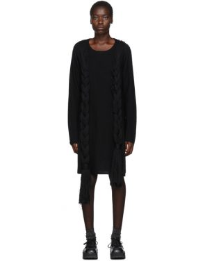 photo Black Worsted Yarn Braid Dress by Comme des Garcons Homme Plus - Image 1