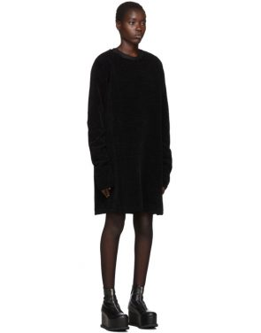 photo Black Moleskin Jersey Dress by Comme des Garcons Homme Plus - Image 2