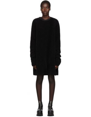 photo Black Moleskin Jersey Dress by Comme des Garcons Homme Plus - Image 1