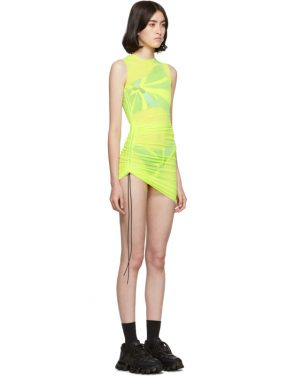 photo Yellow SL Mesh Mini Dress by Louisa Ballou - Image 2