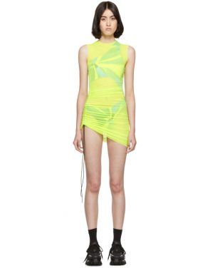 photo Yellow SL Mesh Mini Dress by Louisa Ballou - Image 1
