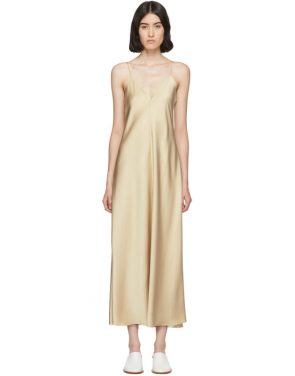 photo Tan Silk Guinevere Dress by The Row - Image 1