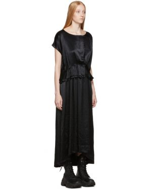 photo Black Tiriel Dress by Ann Demeulemeester - Image 2