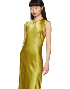 photo Yellow Keyhole Dress by Ann Demeulemeester - Image 4