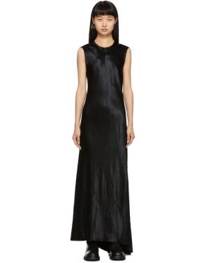 photo Black Keyhole Dress by Ann Demeulemeester - Image 1