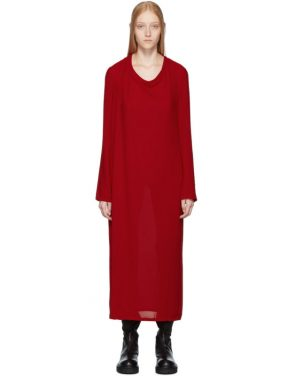 photo Red Pallas Dress by Ann Demeulemeester - Image 1