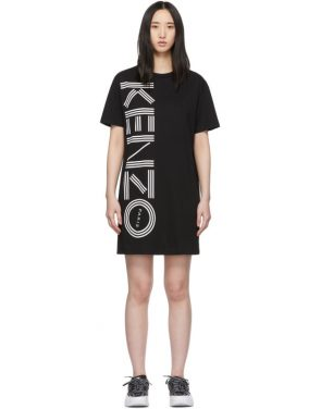 photo Black Logo T-Shirt Dress by Kenzo - Image 1
